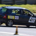 5.	Ben Brown up to his usual dance pose in the Renault Clio 172